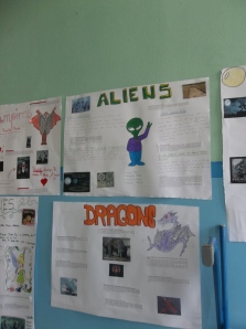 Posters created by the oldest class group (14-15 year olds).