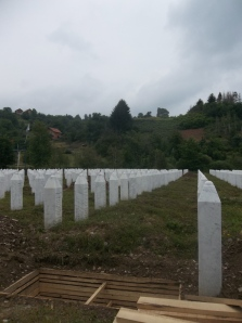 A photograph of the Potocari Cemetery at Srebrenica. The 2013 students accompanied students from the University of Sarajevo to Srebrenica to participate in a remembrance ceremony.